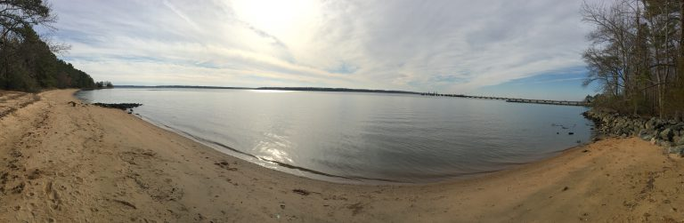 James River panorama from Jamestown site.